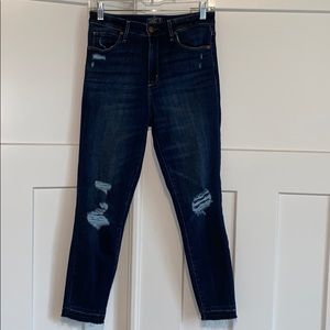 Abercrombie Simone high rise ankle jeans